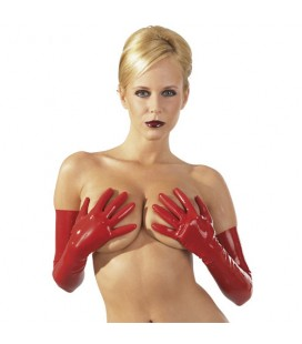Латексови червени ръкавици