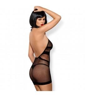 Секси къса мрежеста рокля D115