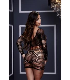 Секси къса мрежеста рокля Baci