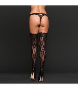 Еротични чорапи High Black Floral XL