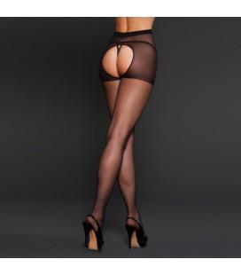 Еротични чорапи Black Spandex Crotchless