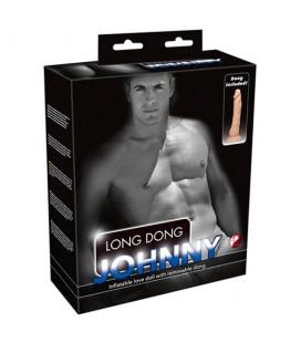 Надуваема секс кукла с дилдо Johnny