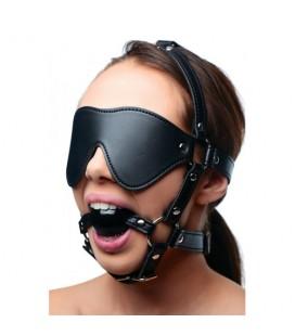Фетиш маска с топка за уста STRICT