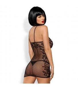 Секси къса мрежеста рокля D219